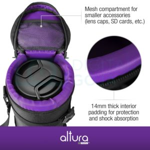 Deluxe Camera Lens Pouch Case by Altura